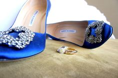 "Something Blue and Something New Wedding Day Shoes. I was one lucky bride receiving my dream Manolo Blahnik shoes! Great picture of the shoes and ring before the ""I DOs! Cigar Bar, Manolo Blahnik Shoes, Bride Shoes, Our Wedding Day, Something Blue, Great Pictures, Washington, Rings, Fashion"