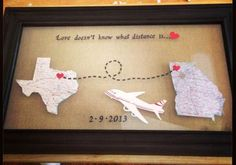 Gift Boyfriend Birthday: From Texas to Germany. Distance means so little when you mean so m. Gift Boyfriend Birthday: From Texas to Germany… Distance means so little when you mean so much. Long Distance Love, Long Distance Gifts, Long Distance Boyfriend, Diy Gifts For Boyfriend, Birthday Gifts For Boyfriend, Girlfriend Gift, Marines Girlfriend, Diy Cadeau Noel, Long Distance Relationship Quotes