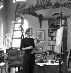Image detail for -Tove Jansson in her studio, date unknown. Please note the Moomin doll ...