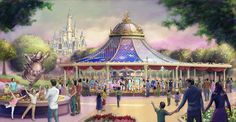 Shanghai Disney Resort Fantasia Carousel Rendering