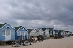 Just up the road from us at Mudeford, Dorset. Dorset England, New England, British Beaches, English Village, Some Beautiful Pictures, Beach Huts, Forever Living, Going On Holiday, Amazing Spaces