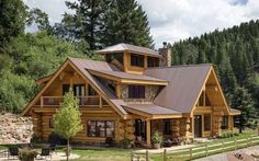 Log Cabin Homes, Cottage Homes, Log Cabins, Cabins In The Woods, House In The Woods, Rustic Houses Exterior, Timber House, Cabins And Cottages, Home Builders