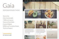 Gaia - WordPress Blog Theme by Novus Themes on Creative Market