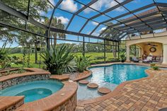 This excellent pool photos can be an inspiring and good idea Luxury Swimming Pools, Indoor Swimming Pools, Dream Pools, Backyard Pool Designs, Pool Landscaping, Underground Pool, Lazy River Pool, Brick Driveway, Piscina Interior