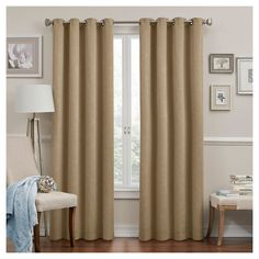 "Round & Round Thermawave Blackout Curtain Grey (52""x63"") Eclipse"