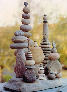 26 ideas for garden art sculptures sticks - Garten Kunst Landscape Edging Stone, Rock Sculpture, Art Sculptures, Garden Sculptures, Stone Sculptures, Stone Balancing, Art Pierre, Stick Art, Jolie Photo