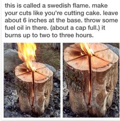 #DIY Swedish Flame fire log is cheap and easy to make.