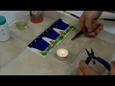 Cutting and Assembling a Fused Glass Bud Vase - YouTube