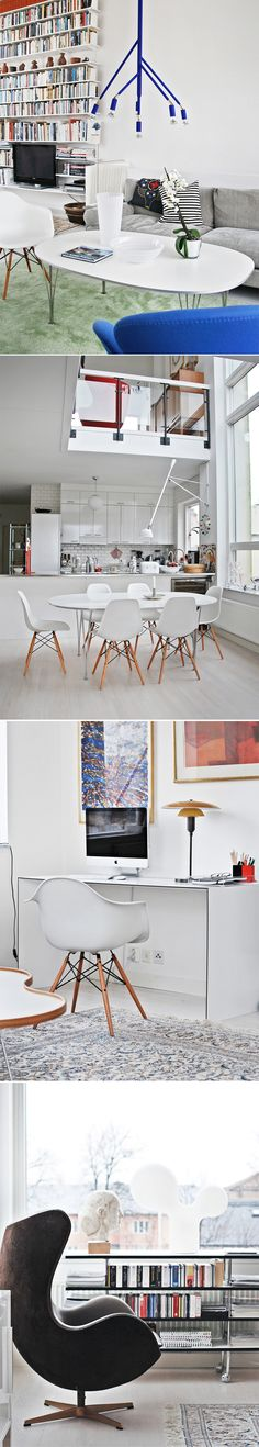 Scandinavian Design Classics - add modern touch with these chairs Scandinavian Interior, Modern Interior, Interior Architecture, Interior And Exterior, Interior Design, House Of Philia, House Rooms, Decoration, Home And Living