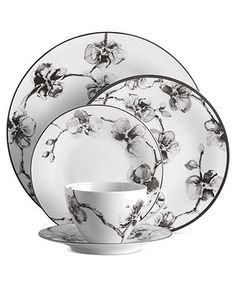 Michael Aram Dinnerware, Black Orchid Collection - Fine China - I like the artist sketchbook quality of these flowers