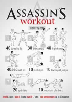 Ever wanted to be able to complete several AWESOME parkour moves like Altair, Ezio, Ratonhnhaké:ton or Edward? I know I did… So here's a workout to get you on your way!