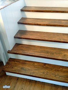 Best Faux Wood Grain Stair Treads Faux Wood Flooring Faux 640 x 480