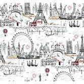 Found it at AllModern - Black and White Novelty Euro Scenic Wallpaper