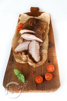 Dziś coś dla prawdziwych mięsożerców i tych na .... diecie:)   Boczek pieczony tym sposobem jest bardzo pikantny i aromatyczny. Idealny na zimno do kanapek, jak i na ciepło z kromką chleba lub ... Pork, Dairy, Healthy Recipes, Kale Stir Fry, Pigs, Healthy Food Recipes, Healthy Eating Recipes, Healthy Diet Recipes, Healthy Cooking Recipes