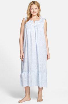Plus Size Women s Eileen West  Summer Ballet  Long Nightgown Summer Clothes  Sale 22053e9d7