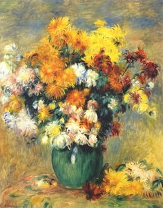 Bouquet of Chrysanthemums c1885 Pierre-Auguste Renoir
