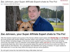 """Zac Johnson is the Featured """"Affiliate Expert"""" on AffiliateFix 