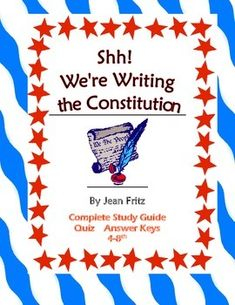 from teachers pay teachers shh we re writing the constitution fritz ...