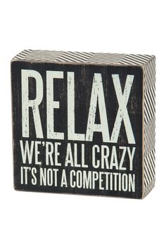 We're All Crazy Box Sign on @HauteLook