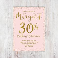 30th birthday invitation modern faux gold foil hello 30 thirty blush pink and gold glitter 30th birthday by invitationsdigital filmwisefo