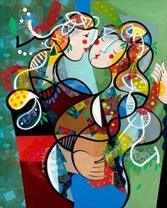 Yoël Benharrouche, Le regard de l'autre (Lacquer), 2015, Eden Fine Art