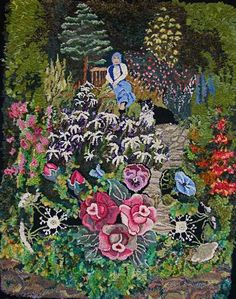 Amazing creation by Heather Ritchie of her 95 year old mother in the garden surrounded by her favorite flowers.