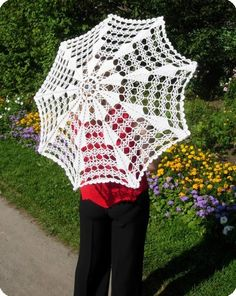 Crochet umbrella ♥LCU-MRS️♥ with diagram.