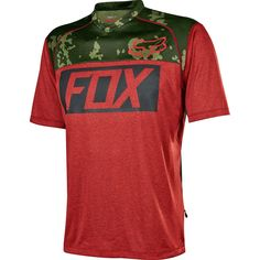 Fox Racing Indicator Prints Jersey Short Sleeve Heather Red XL