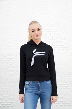 Black Majuscule hoodie from Famme Hoodies, Sweatshirts, Custom Made, Graphic Sweatshirt, Sweaters, Cotton, Fashion, Moda, Fashion Styles