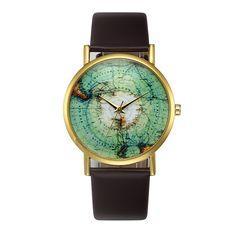 Women Watches Fashion Womens Retro Design Leather Band Analog Alloy Quartz Wrist Watch #Affiliate