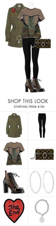 """""""Bree"""" by misfitfancy ❤ liked on Polyvore featuring Figue, Wolford, Sacai, Gucci, Anita Ko, Olympia Le-Tan and Tiffany & Co."""
