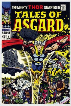 Tales Of Asgard - soon after The Mighty Thor first appeared in Marvel Comics, the entire pantheon of Norse god mythology followed. Their stories were originally backup features in the Marvel comic series Journey Into Mystery. Three of those were gathered here for a special one-of-a-kind publication.  Told from the Marvel universe perspective, featured were all-wise Odin and two other loyal & brave companions of Thor. Great fantasy tales! It's a shame they didn't consider doing further…