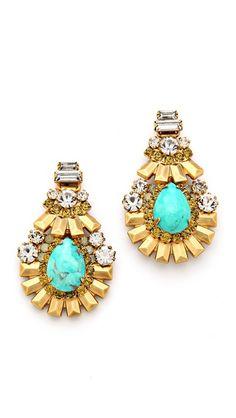 Elizabeth Cole Oval Drop #Earrings  #accessories #colors