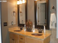 dual framed bathroom mirrors