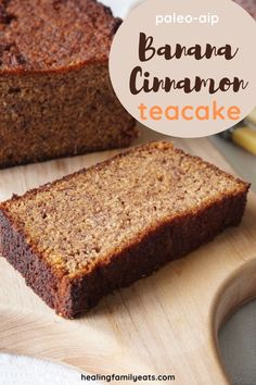 There is nothing unhealthy about this banana and cinnamon teacake! Perfect for AIP, GAPS, SCD and Paleo diets, it is loaded with bananas, honey, coconut flour and cinnamon to create a delicious banana bread you won't feel guilty about eating. #bananabread #cinnamonbread #teacake #aip #paleo #gaps #scd #coconutflour #honey