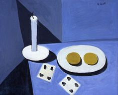 """William Scott, """"Still life with candle"""""""