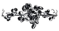 *The Graphics Fairy LLC*: Antique Engravings - French Roses with Arrows