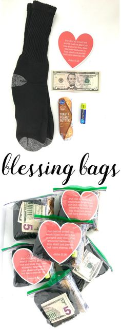February Mini Blessing Bags: Download and print our heart printable to put in the mini blessing bags.
