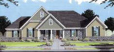 Bungalow House Plan with 1615 Square Feet and 3 Bedrooms from Dream Home Source | House Plan Code DHSW49808