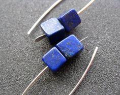 lapis earrings. cobalt blue earring. lapis lazuli jewelry.