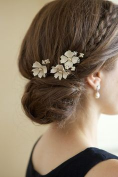 little flowers with bun