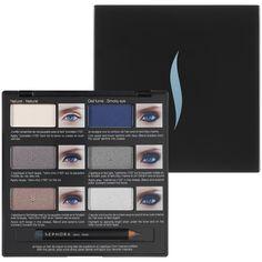 Smokey eyes paso a paso. Pro Lesson Palette: Blue eyes - Sephora Collection