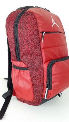 251800baf43814 NWT NIKE AIR JORDAN All World Backpack SchoolLaptop Red ElephantPrint  9A1640-RK2  Nike