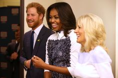 Prince Harry, Michelle Obama And Jill Biden Are So Color-Coordinated