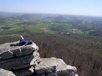 The Pinnacle-Blue Mountain. Overlooks farmlands of Berks and Lehigh County from a thousand feet above!