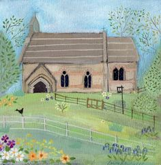 Old Country Church Art by Louise Rawlings