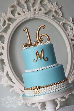Sweet 16 Cake by K Noelle Cakes