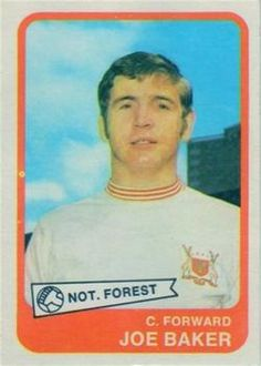 Nigel's Webspace - A&BC Chewing Gum, Footballer, Yellow backs Football Stickers, Football Cards, Baseball Cards, Joe Baker, Nottingham Forest Fc, Chewing Gum, Trading Card Database, How To Get, Badges
