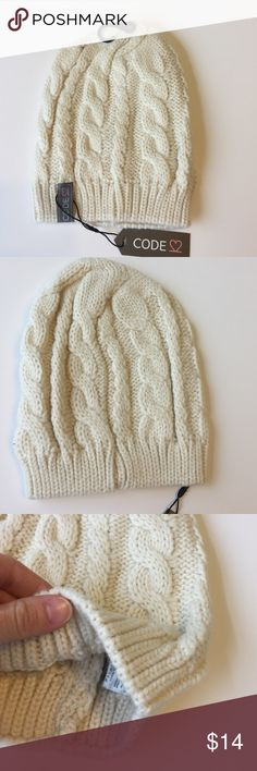 $15 DEALS• NWT Cable Knit Beanie Hat OSFM Cream 100% acrylic new in package. Cream color listing. More colors available check my listings bundle and save! boutique Accessories Hats