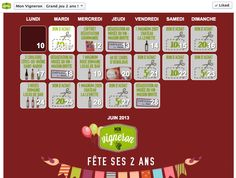 Facebook Instant Win Calendar Mon-Vigneron.com #Socialshaker